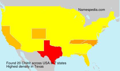 Familiennamen Chitrit - USA