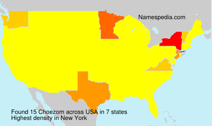 Surname Choezom in USA