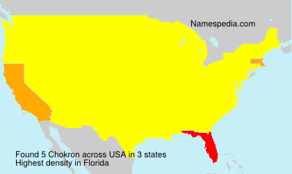 Surname Chokron in USA