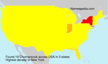 Surname Chomanczuk in USA