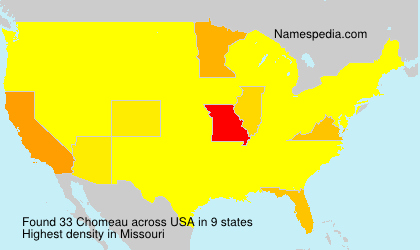 Surname Chomeau in USA