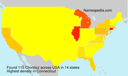 Surname Chomicz in USA