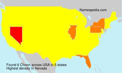 Familiennamen Chonn - USA