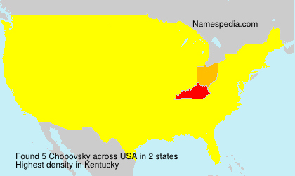 Surname Chopovsky in USA