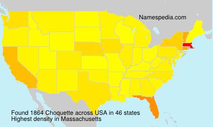Surname Choquette in USA