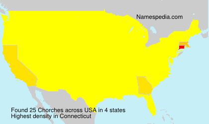 Surname Chorches in USA