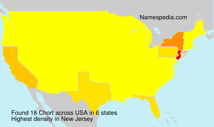 Surname Chort in USA