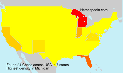 Surname Choss in USA