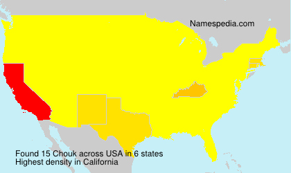 Surname Chouk in USA
