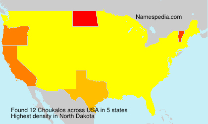 Surname Choukalos in USA