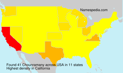 Surname Chounramany in USA