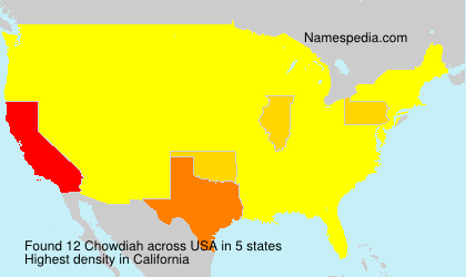 Surname Chowdiah in USA