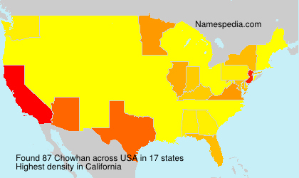 Surname Chowhan in USA