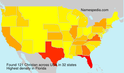 Surname Christan in USA