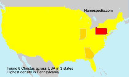 Familiennamen Christas - USA