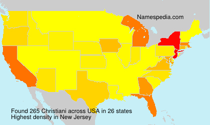 Surname Christiani in USA