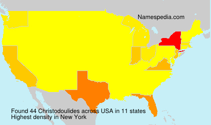 Surname Christodoulides in USA