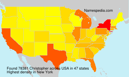Surname Christopher in USA