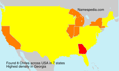 Surname Chrles in USA