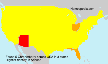 Surname Chronerberry in USA