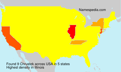 Surname Chrustek in USA