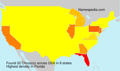 Surname Chruszcz in USA