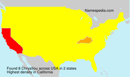 Surname Chrysiliou in USA
