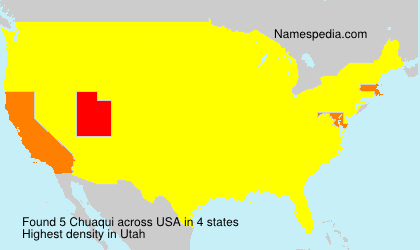 Surname Chuaqui in USA