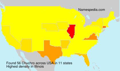 Surname Chuchro in USA