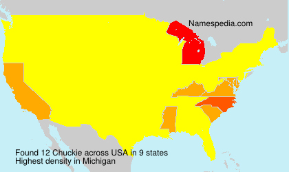 Surname Chuckie in USA