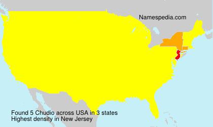 Surname Chudio in USA