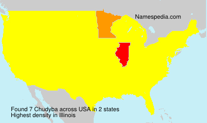 Surname Chudyba in USA