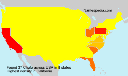 Surname Chufo in USA