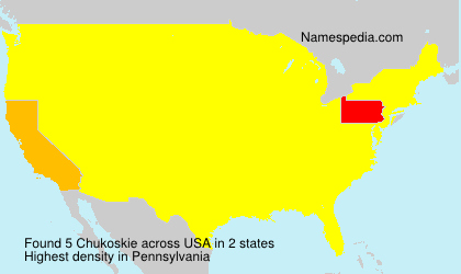 Surname Chukoskie in USA