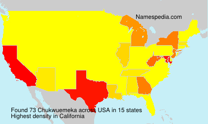 Surname Chukwuemeka in USA