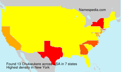 Surname Chukwukere in USA