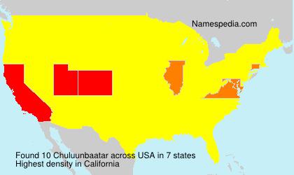 Surname Chuluunbaatar in USA