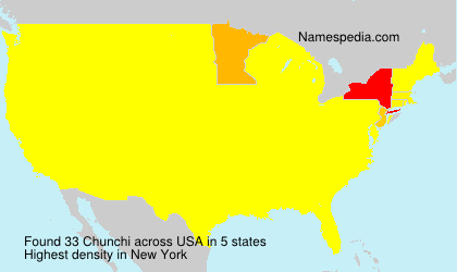 Surname Chunchi in USA