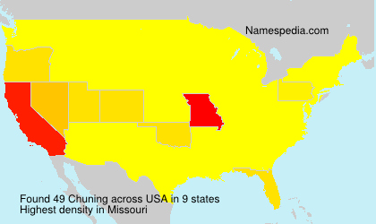 Surname Chuning in USA