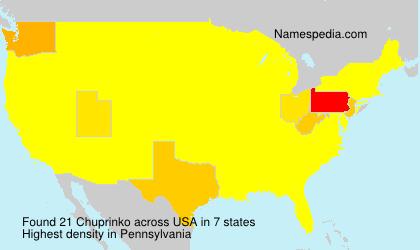 Surname Chuprinko in USA