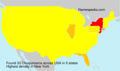 Surname Chuquimarca in USA