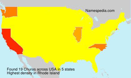 Surname Churas in USA