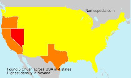 Surname Chusri in USA