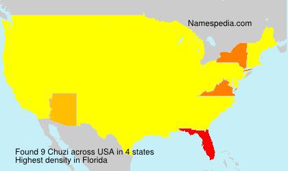 Surname Chuzi in USA