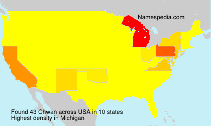 Surname Chwan in USA