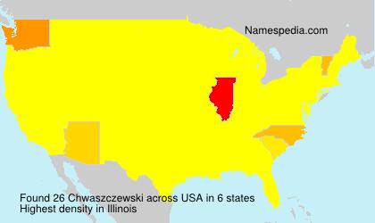 Familiennamen Chwaszczewski - USA