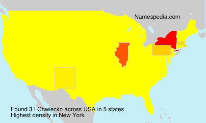 Surname Chwiecko in USA