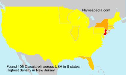 Familiennamen Ciacciarelli - USA