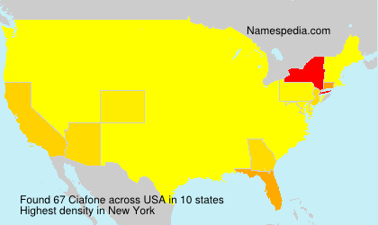 Surname Ciafone in USA