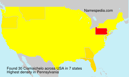 Surname Ciamaichelo in USA